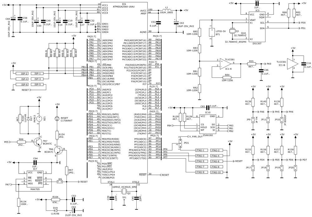 schema elettrico di una scheda elettronica personalizzata